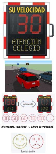 Control de velocidad inforadar PMV: radar informativo